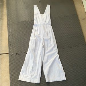 White Free People Button Jumpsuit